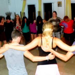 Dancing traditional dance