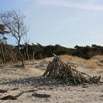 Das Holz, welches sich das Meer nicht mit nahm (oder schon wieder brachte), wird traditionell zu Burgen verbaut.