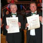 Auszeichnungen gab's für Roland Wiesner und Manfred Kretschmer.