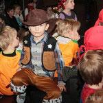 Von Pippi Langstrumpf bis Cowboy waren schöne Masken dabei.