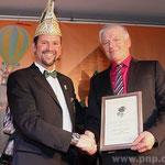Zum Ehrenpräsident ernannte Markus Lorenz seinen Vorgänger Roland Wiesner (r.).