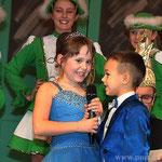 Für diese Saison die Chefs der kleinen Narren: Das Kinderprinzenpaar Jasmin II. (Buchner), sieben Jahre jung, und Nico I. (Schneider), sechs Jahre