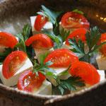 塩豆腐 トマトのせ