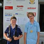 Zweiter und Dritter bei den U 14: Stefan Schmitt (TSV Werneck) und Christian Koch (ATC Arnstein)