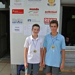 Die Platzierten: Luca Reinhart (TC Wiesenfeld) und Samuel Rieß (ATC Arnstein)