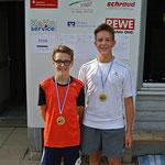 Felix Reuter und Jeremia Endres belegten den 2. und 3. Platz bei den U 16