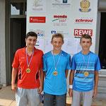 Giacomo chirico (links) vom TSV Krlastadt wurde 2. Sieger, Tom Schroer (rechts) vom TSV Werneck belegte verletzungsbedingt den 3. Platz