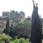 Ansicht der Burg Castellnou