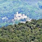 Die Burg Requesens im Hintergrund