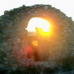 Dies und die folgenden Bilder: Sonnenuntergänge auf Quermançó