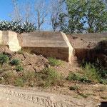 Seitenansicht des großen Bunkers