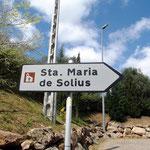 Der Weg nach Solius war weit und das Kloster ist nicht einfach zu finden