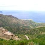 Blick vom Kloster aufs Meer