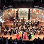 Orchester und Ballett in Aktion