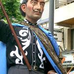 Dalí als Gigantenfigur von Figueres