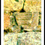 Wappen der Grafen an Außenmauer