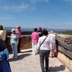 Blick von der höchsten Plattform der Burg