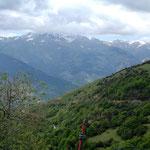 Blick vom Coll de Jou nach Westen ( Puigmal-Massiv)