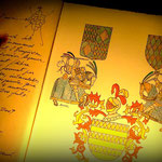 Blick in das Goldene Buch von Quermançó - Wappen
