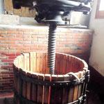 Eine Weinpresse