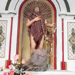 Der Heilige innen in der Kapelle