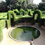 Blick auf das Labyrinth