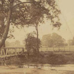 The footbridge at Hob Moor ford