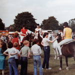 """These two photos were kindly sent by Sue Jacobs. """"My Dad was on the Carnival Committee for a few years, and I, a niece, and two friends did a gymkhana display on 4th July 1981""""."""