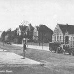 Westley Road, c. 1930. This view was taken by the Council Schools. In 1929 the Warwick cinema up the road on the left had opened, which led to the immediate closure of the Picture Playhouse silent cinema at the corner of Station Road and Warwick Road.