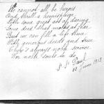 Words of Sr St Paul, 1913