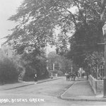 The Warwick Road, c. 1905. We are looking towards St Mary's Vicarage and the Village. The vicarage was knocked down in the mid-1970s, and the vicar moved to a house on Dudley Park Road. The site is now occupied by houses.