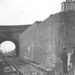 The bridge in March 1939. It was replaced 1939/40 by a wider one as part of the Stockfield Road works (Birmingham Libraries)