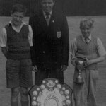 Mike Tindall (ex-pupil and England Youth Team player) with the League Shield