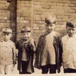 A group of children, probably around World War One