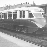 A diesel railmotor (flying banana) at Spring Road, c. 1939 (C.C. Green)