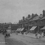 The Warwick Road, 1913. The Picture Playhouse is being built on the corner of Station Road in this postcard of the Warwick Road (Carl Meddings)