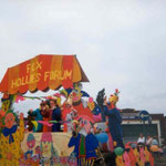Another view of the Fox Hollies Forum float