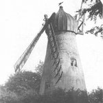A closer look at the windmill, clearly out of use.