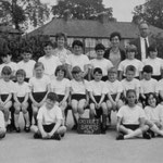 District Sports, 1967. Susan Huband is the third from the left in the first seated row, as we look