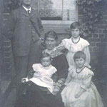 """The Rose family. On the back is written """"To Georgie from Marie Rose, 1905"""". This was George Field."""