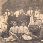 School cricket team, South Birmingham Champions 1912