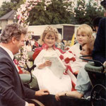 Jaime Bryan (Carnival Queen) and James Ross from Severne Road Nursery, 1982