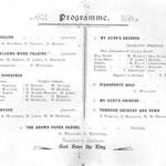 The Christmas 1911 entertainment programme