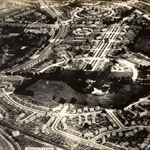 An aerial view of the Hall and grounds, late 1920s (Birmingham Libraries)