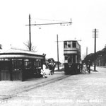 The tram terminus at the city boundary