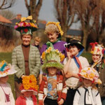 An Easter parade with bonnets, 1982