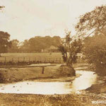 The ford at Hobmoor Lane. The lanes did not meet opposite each other, so the ford ran along the river.