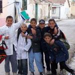 Enfants sortant de l'école - Sétif - ALGERIE