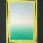 Sehnsucht 2014, Öl auf Linwand 135 x 9o cm auf Wandmalerei
