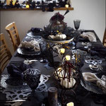 ハロウインテーブルでホームパーティー